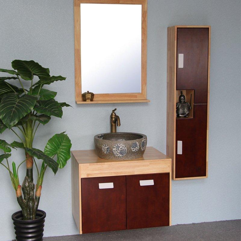 Tủ phòng tắm hiện đại có bồn rửa mặt