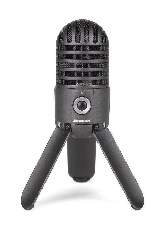 Micro  Samson Meteor Mic USB Studio Microphone (Titanium Black)