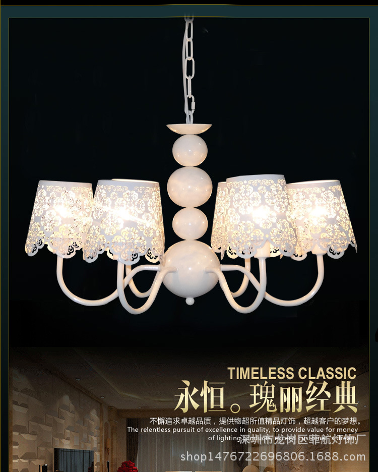 Đèn chùm đèn trong phòng bầu dục nông thôn cổ điển đèn lồng trang phục màu trắng của nhà hàng cửa hà