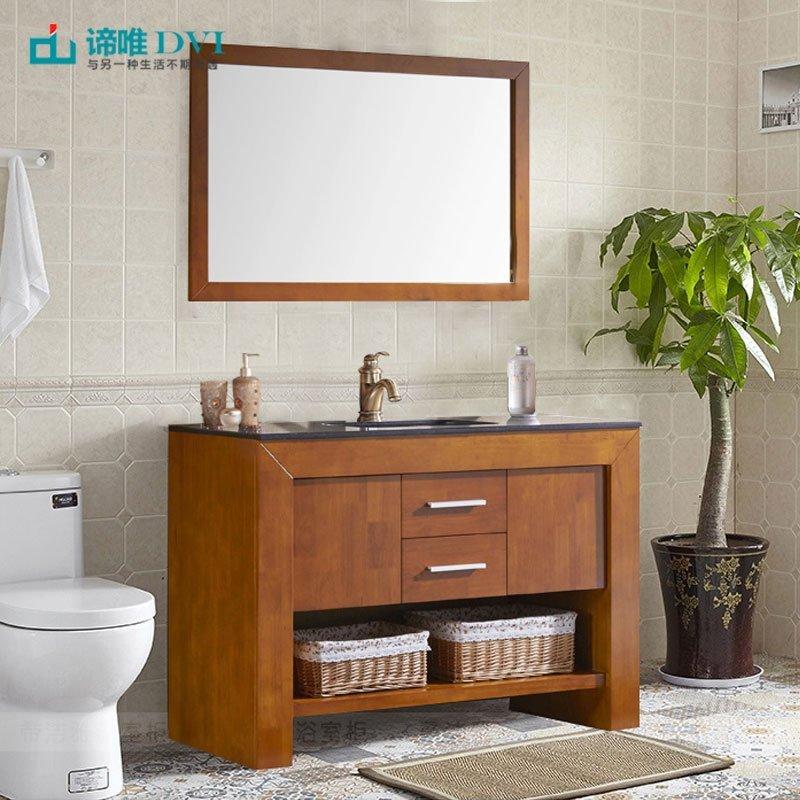 Tủ phòng tắm gỗ sồi kết hợp bồn rửa mặt đá cẩm thạch 3006