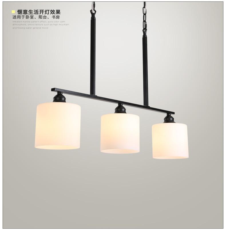 Ánh sáng đèn treo đầu hàng Nhà hàng Mỹ ba bữa ăn đèn chùm đèn LED hiện đại đơn giản. Bắc Âu đèn quầy