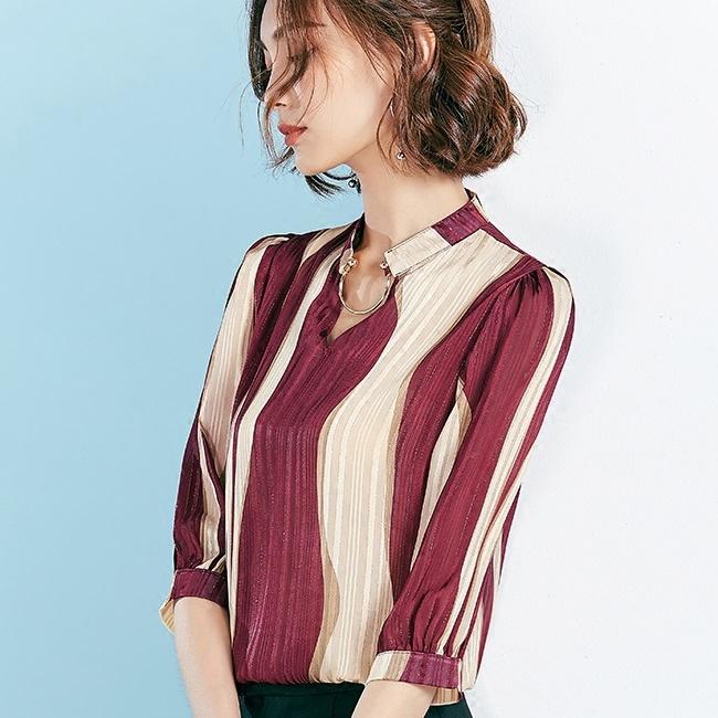 Cô gái mặc áo bông áo mới mùa hè 2017 tay áo sọc nhỏ thời trang áo khoác áo bị gấp trăm tỏ gầy