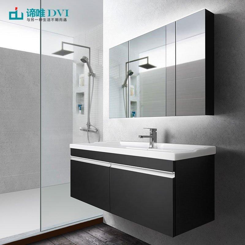Bộ tủ phòng tắm treo đơn giản hiện đại có bồn rửa mặt