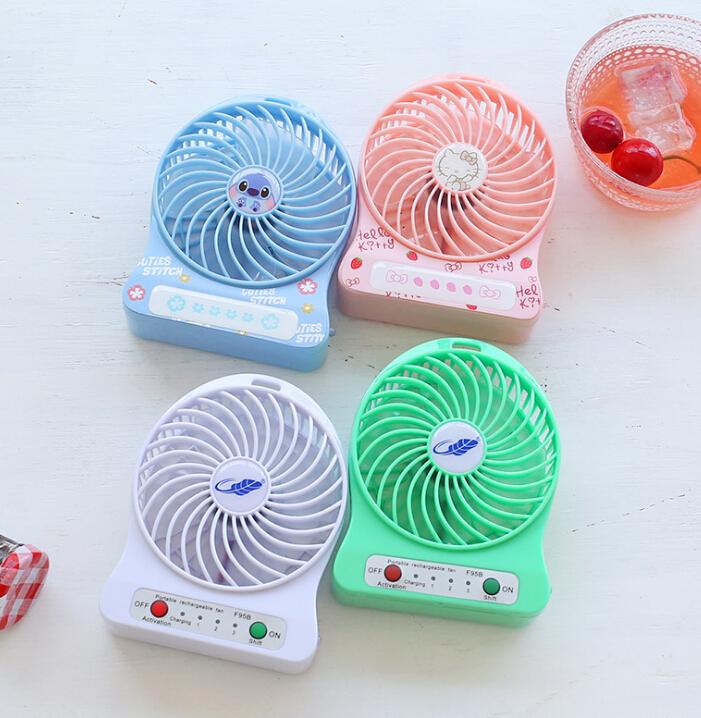 Quạt máy   Tian đã được chính hãng phim hoạt hình thời trang USB quạt nhỏ quạt nhỏ sinh bán buôn má