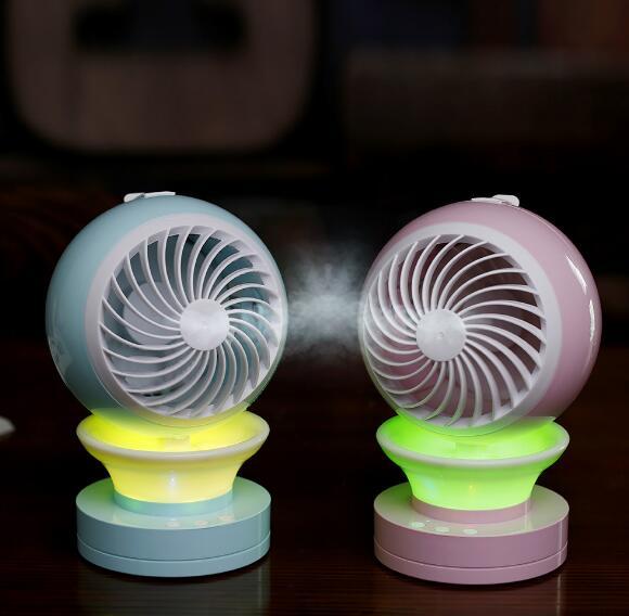 Quạt máy   USB quạt nhỏ đôi dầu thơm xịt quạt làm mát văn phòng sáng tạo quạt điều hòa không khí dẫ