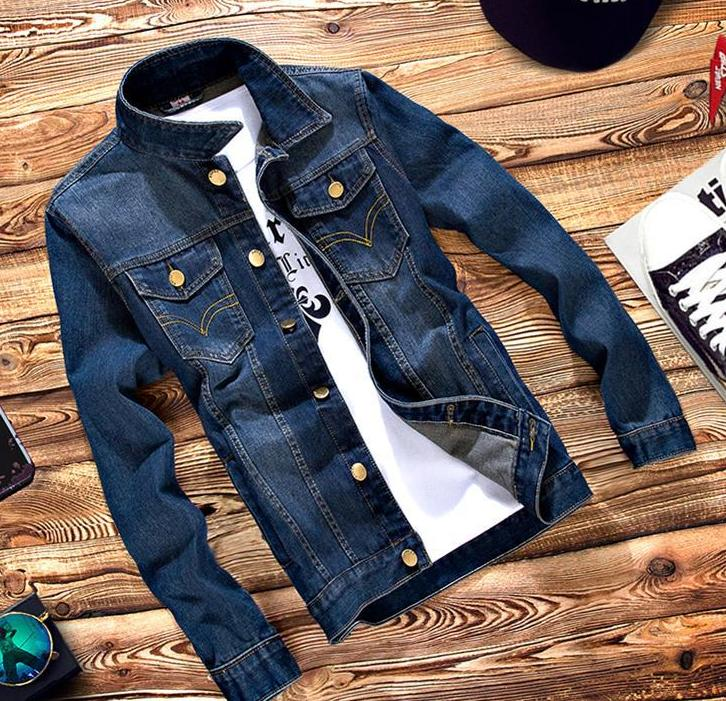 Fall men's denim jacket tide boys jeans Korean Slim tide boys clothes coat