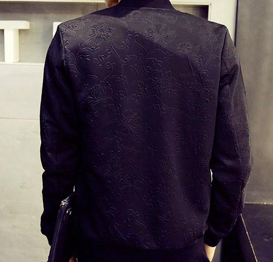 Spring 2016 new men's solid color floral coat jacket wild casual simplicity Slim temperament Korean