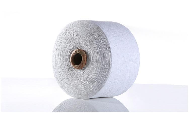 Sợi tơ lụa Nhà sản xuất tùy chỉnh màu sắc đầy khí quay sợi sợi bông sợi bông sợi giẻ lau nhà găng ta