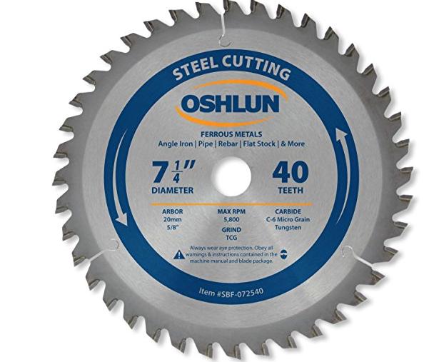 Công cụ kim cương công nghiệp  Oshlun 7-1 / 4 inch lưỡi chiều dài cơ sở TCG kim cương cho 5/8 inch