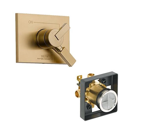 Van  Delta kvodve-t17053-cz Vero van áp lực cân bằng hai chức năng Kit hộp, rượu sâm - banh bronze