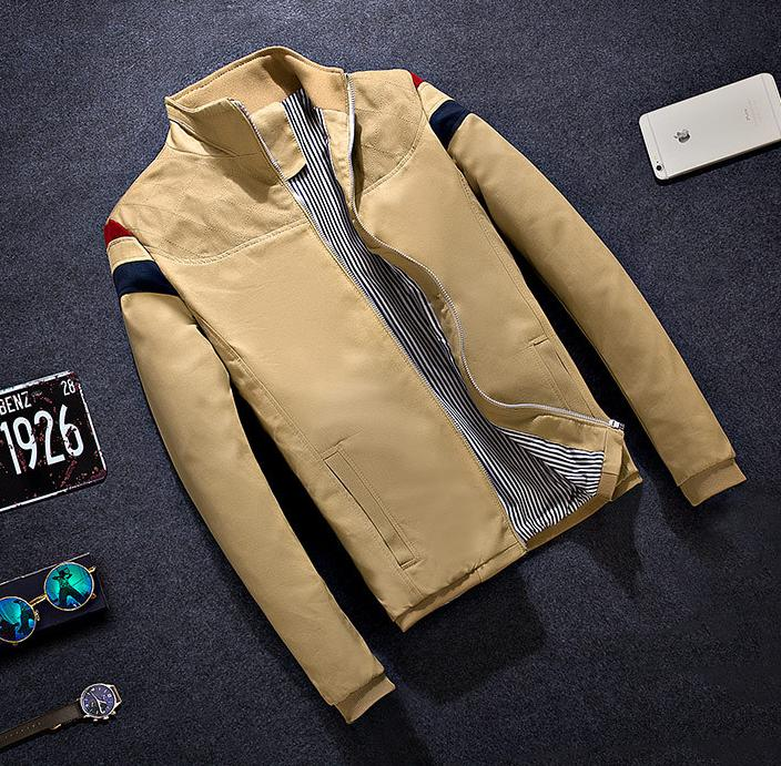Korean version of the solid color men's jackets men's Slim Jacket 2016 new fashion tide male jacke