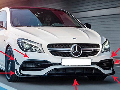 Phụ tùng xe máy ô tô>C117CLA Cla45Amg Schwarz glänzend Front Bumper Aero Spoiler Set 2016+
