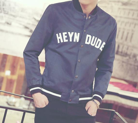 Printing Korean men jacket Spring 2015 new men's jacket coat Mens C-H15