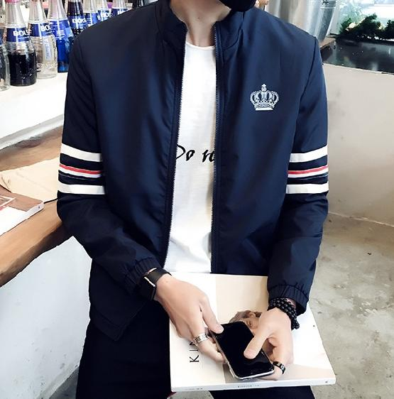 Spring new men's fashion casual jacket Korean Slim young men's jacket