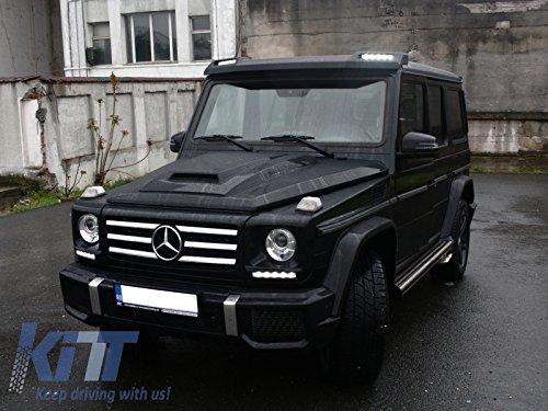 Phụ tùng xe máy ô tô>KITT frsmbw463b LED vorne Dachspoiler für Mercedes W4631989+ 6x 6B Design