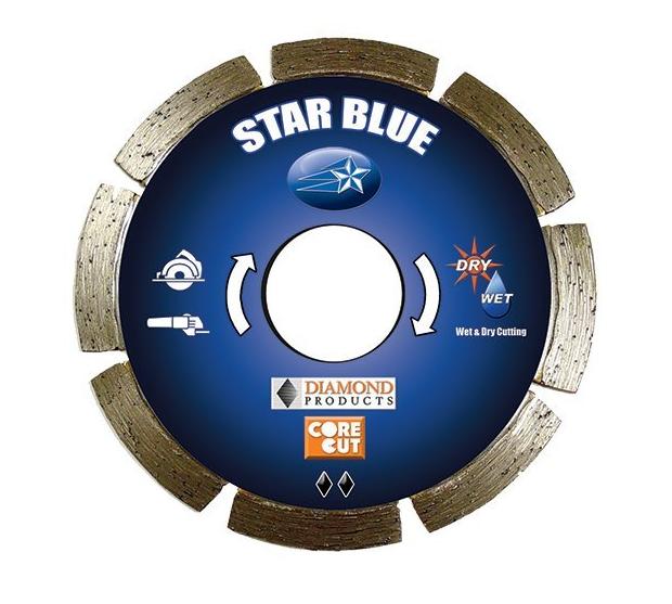 Công cụ kim cương công nghiệp  Sản phẩm Kim cương Core Cut 51438 5-Inch của 0.250 Sao Blade Blue Tu