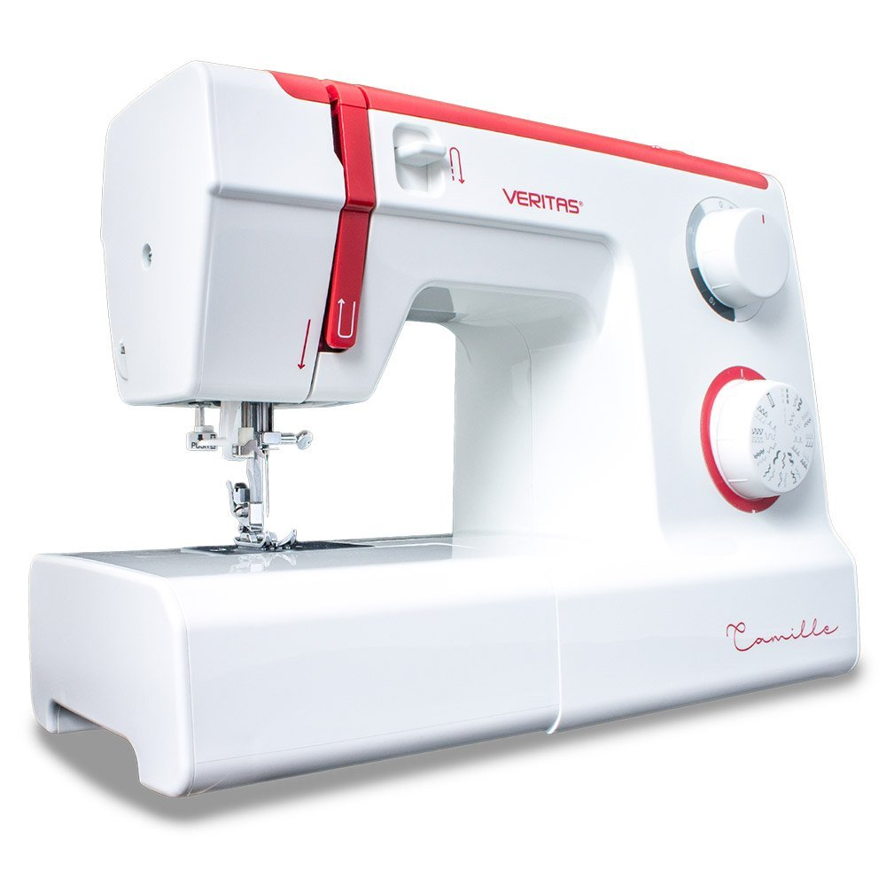 Máy may    Veritas 1305 Camille Plastic and Metal Sewing Machine, White/Red, 38.0 X 17.0 x 30.0 cm