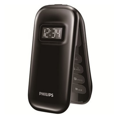 Mobile Communications Philips E320 GSM mobile phone (ink black) dual card dual standby heart phone!