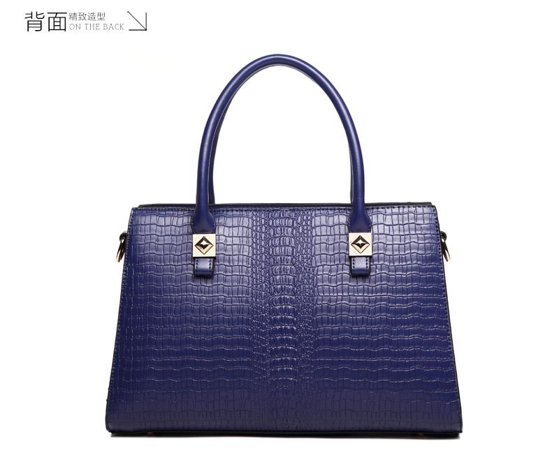 Túi xách nữ da cá sấu màu xanh dương