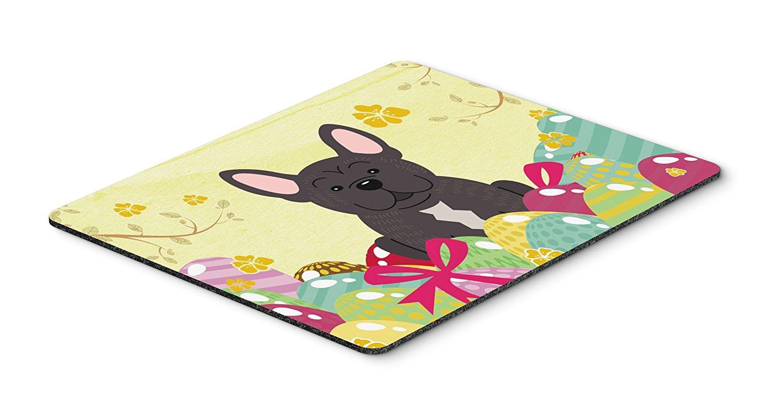 Thảm lót chuột Caroline kho báu của quả trứng Phục sinh French Bulldog sọc Mousepad, nóng pad hay t