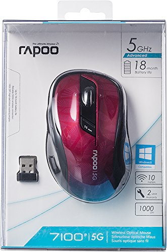 Chuột vi tính Ray Bách 7100p chuột quang vô tuyến 5.8 GHz 1000 DPI màu đen.
