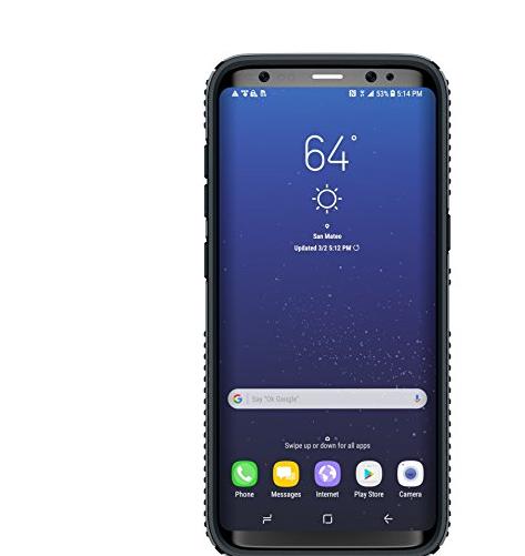 bao da điện thoại  Đốm vỏ pháo đài bắt điện thoại cho Galaxy Samsung S8 cộng sản phẩm màu đen xám c