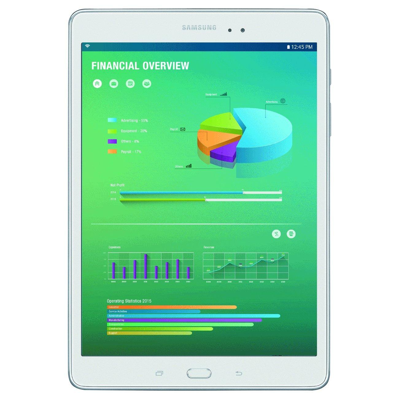 Máy tính bảng Samsung Galaxy Tab inch một sm-t350nzaaxar phẳng 16 GB màu trắng.