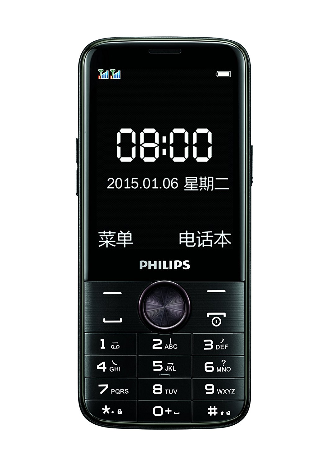 Mobile Communications PHILIPS Philips E330 long standby phone (black) dual card dual standby, 4050ma