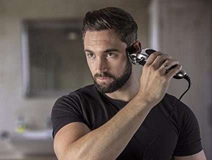 Dao cạo râu  Wahl Pro Wall Deluxe series mang dòng điện bạc đẩy cắt, cạo và lỗ mũi. bộ máy cắt
