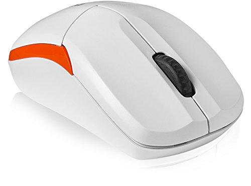 Chuột vi tính Sấm sét. Trình độ cơ bản của chuột không dây liên kết ba 2.4 GHz White.