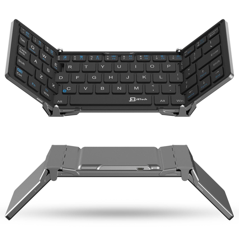 Bàn phím Mỹ JETech gấp ba kiểu bàn phím Bluetooth không dây xách tay keyboard chung áp dụng cho IOS\