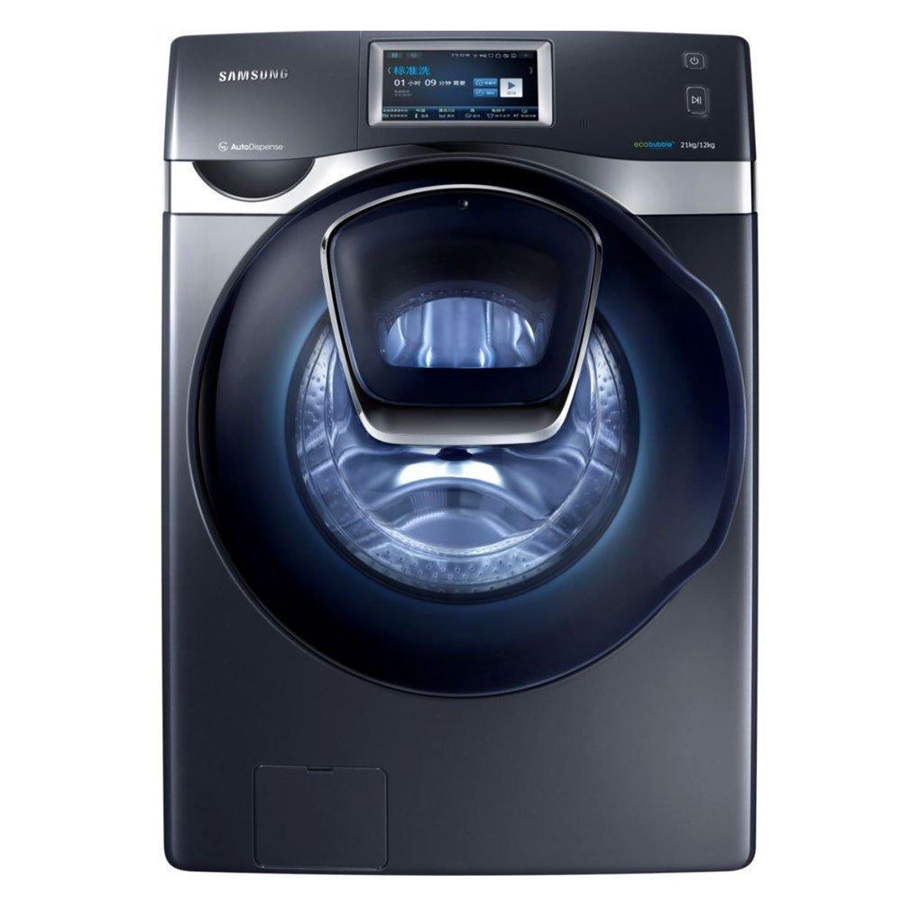Máy giặt SAMSUNG Samsung WD21J9845KG/SC cửa sổ · Xanh biếc Crystal series 21 kg, con lăn máy giặt tự