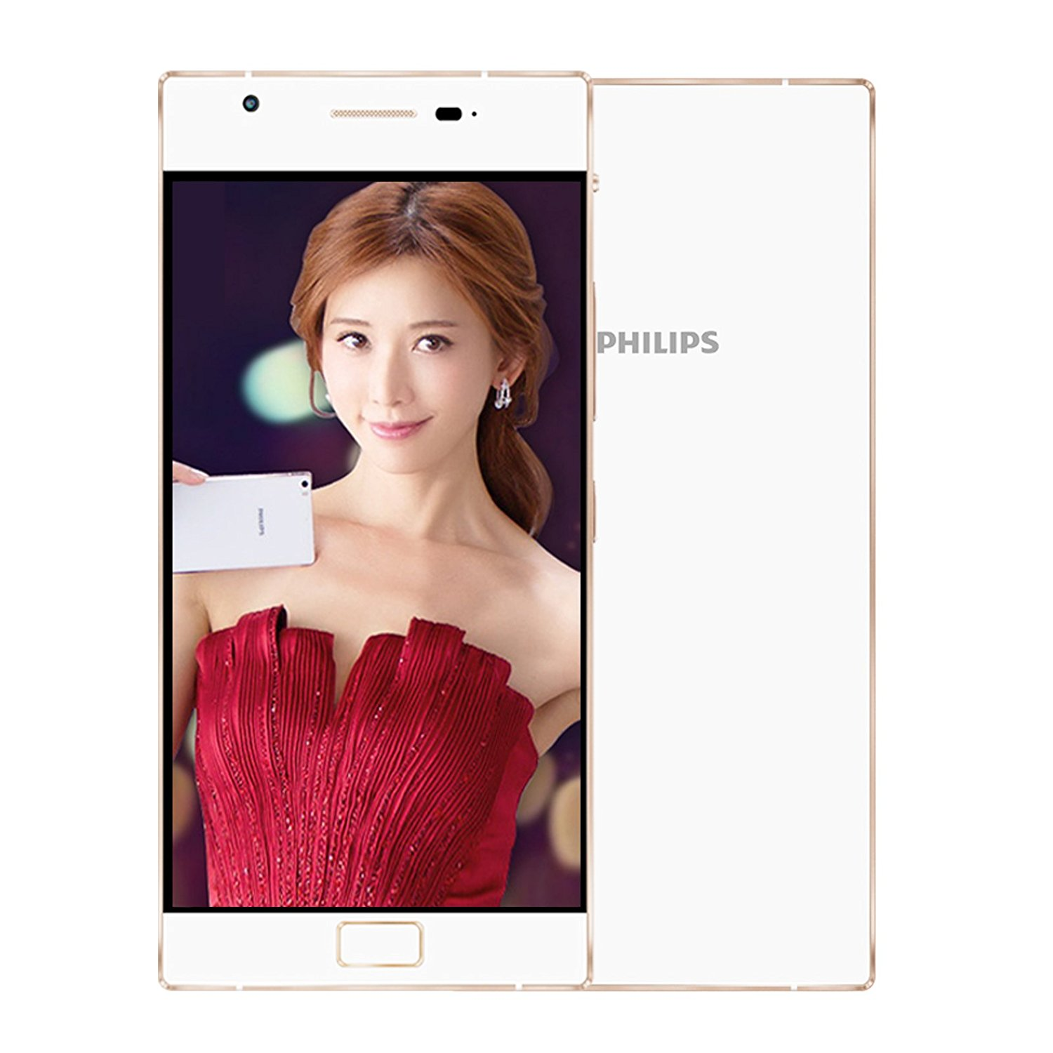Mobile Communications Philips X818 champagne gold all Netcom 4G mobile phone dual card dual standby