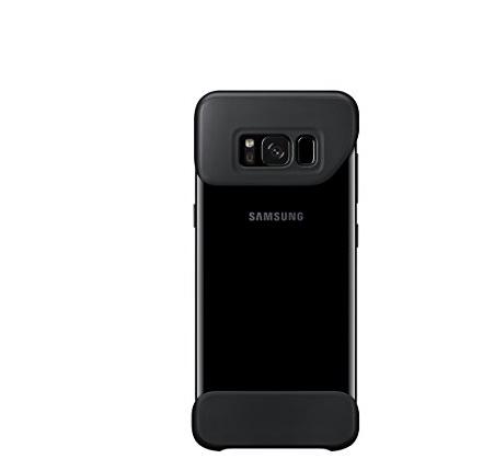 bao da điện thoại  Galaxy Samsung S8 + 2 miếng che màu đen.