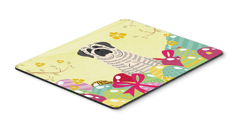 Thảm lót chuột Caroline kho báu của quả trứng Phục sinh chó ngao sọc trắng Mousepad, nóng pad hay t