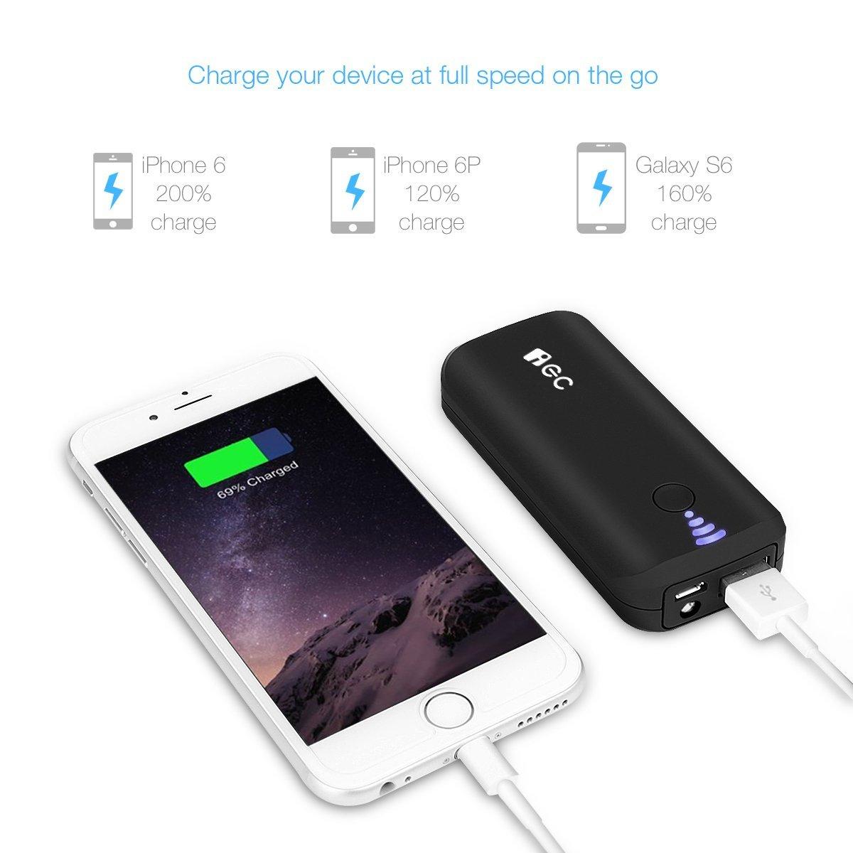 Mỹ công nghệ EC ® 5200mah chuyển điện siêu nhỏ dùng để kho báu bị portable sạc iPhone selen / iPhone