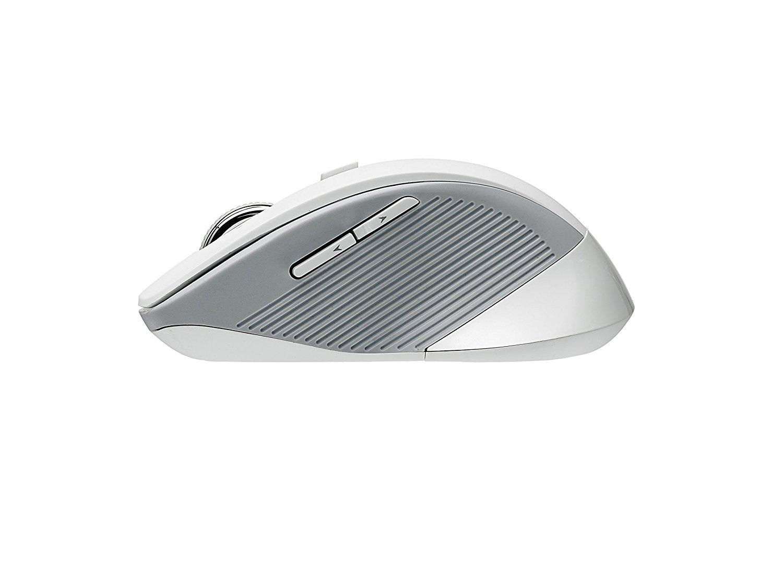Chuột vi tính Ray bách Wi laser 17213 3910 7 nút chuột trên 1600 DPI 2.4 GHz, màu trắng.