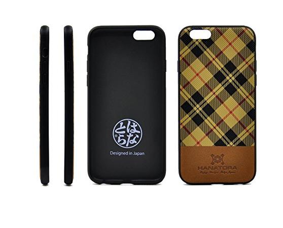 bao da điện thoại  Nhật Bản hanatora Hoa Hổ H13 iphone6s lưới điện thoại vỏ táo màu sọc Scotland 6g