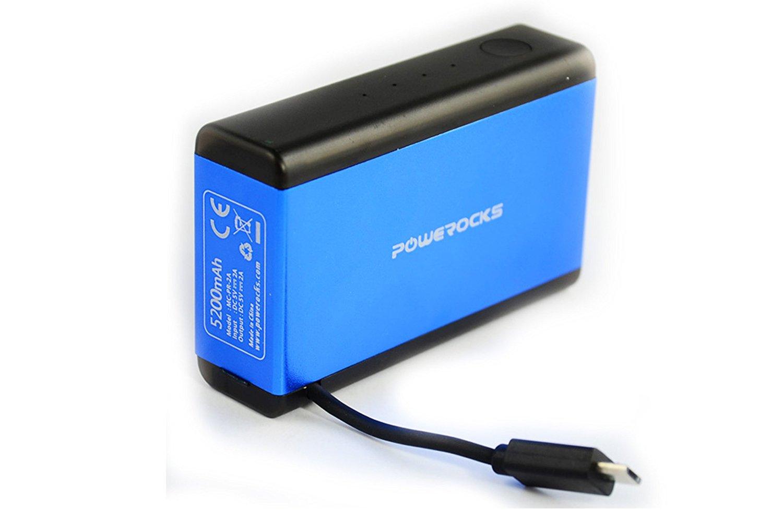 Powerocks kho báu cách đá khối lập phương di chuyển điện sạc bảo 5200mah mc-pr-2a màu xanh.