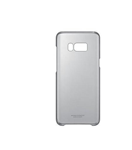 bao da điện thoại  Samsung Galaxy S8+ trong suốt bảo vệ vỏ đen.