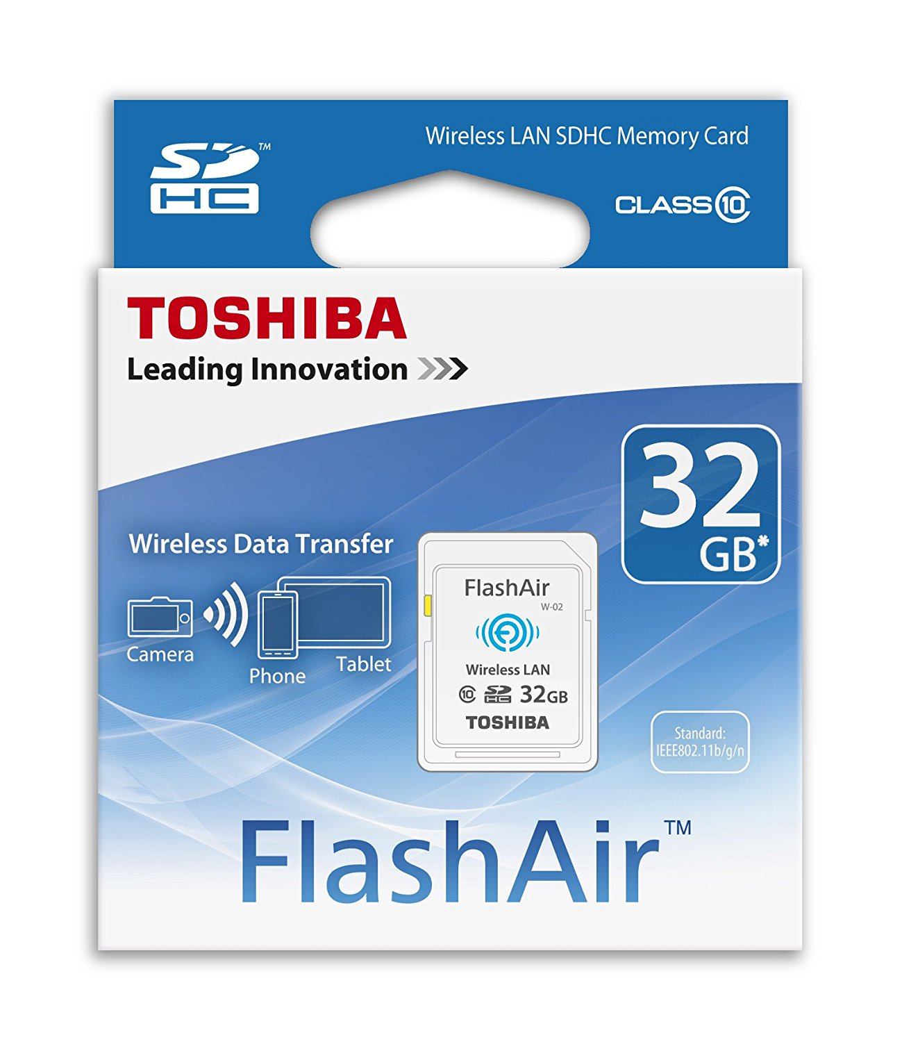 Thẻ nhớ  Toshiba sd-f08air (BL8 8GB FlashAir Wi - Fi SD card_p cấp 10.