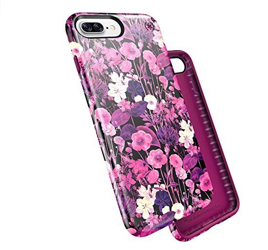 bao da điện thoại  Trường hợp sản phẩm iPhone 7 đốm pháo đài và floweretch Hồng Kim loại / Magenta