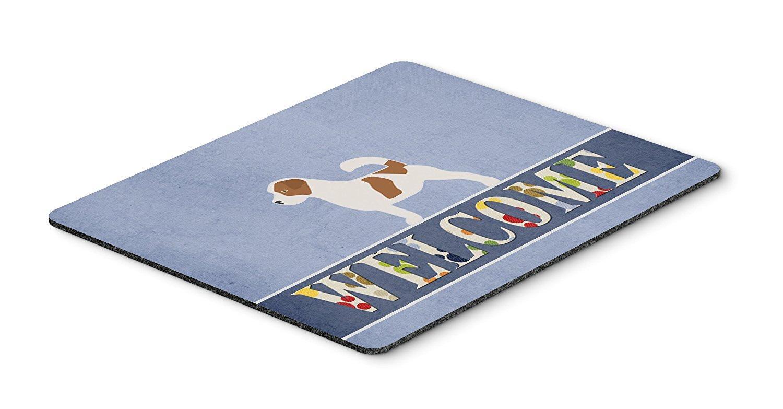 Thảm lót chuột Caroline kho báu của Jack Russell chào mừng Mousepad, nóng pad hay tam giác, versico