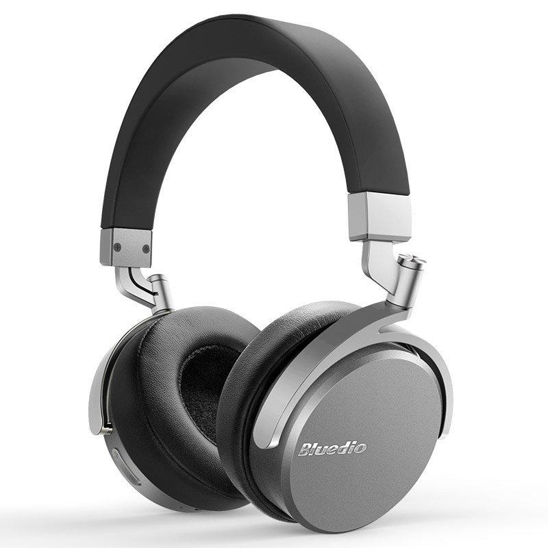 Bluedio Vinyl tai nghe Bluetooth không dây xanh dây có thể xoay Bluetooth stereo built in 4.1 micro