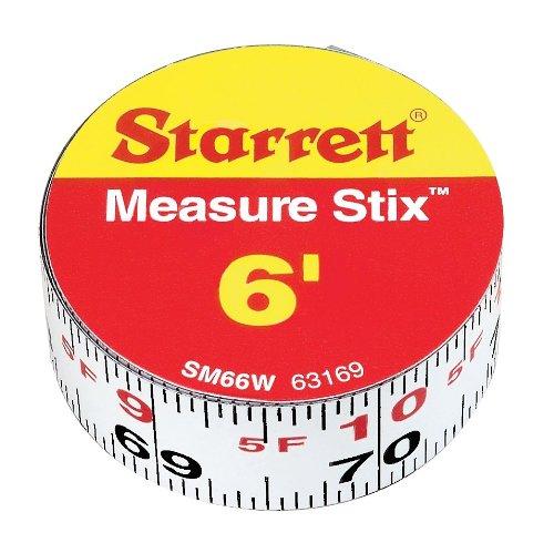 Công cụ nghề mộc Làm STIX sm66w loại thước đo bằng thép trắng, tiếng Anh tốt nghiệp. Phong cách, từ