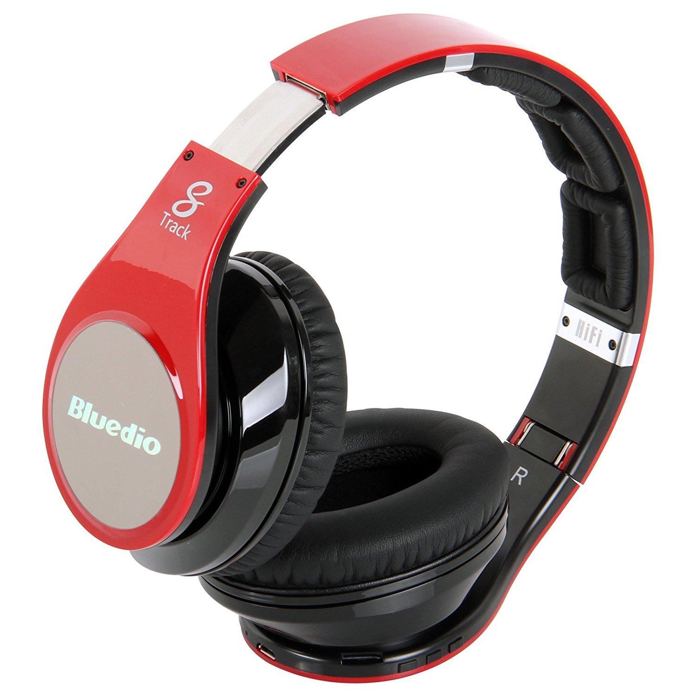 Bluedio Phiên bản nâng cấp R+ xanh dây đeo máy Bluetooth không dây đầu 4.0 đeo tai nghe Bluetooth đầ
