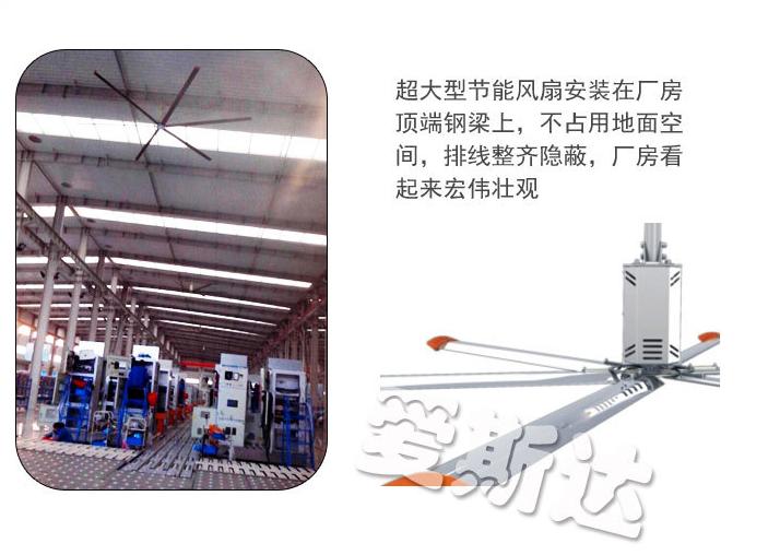 Ngành công nghiệp lớn 7.3 mét quạt quạt lớn workshop Punka [nhà sản xuất]
