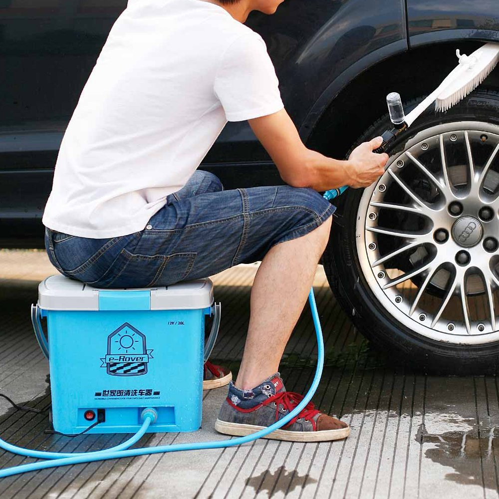 May rua xe Barbecue family, Lang Qing portable multi-function car washer, outdoor car high-pressure