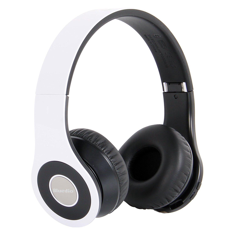 Bluedio B Bluetooth stereo tai nghe điện thoại của gói bán lẻ của màu trắng đỏ.