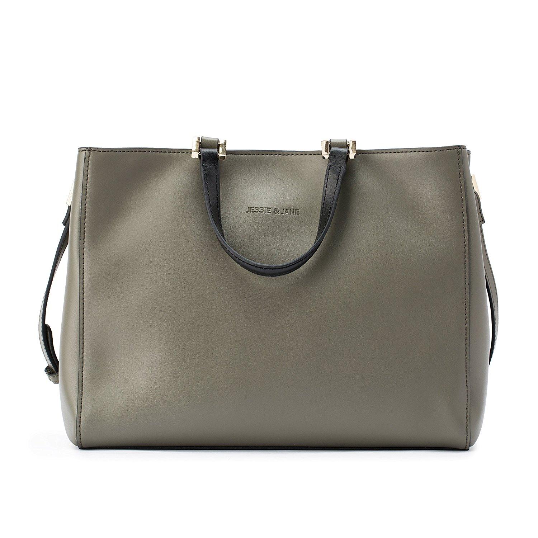 Túi xách da màu kem JESSIE & JANE kiểu dáng dành cho nữ
